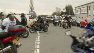 Hundreds of bikers took part in a protest ride