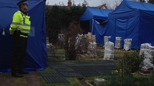 The body was exhumed from an unmarked grave earlier this month.