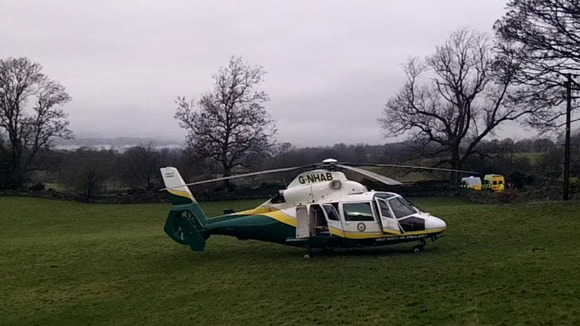 Great North Air Ambulance, Troutbeck Bridge.