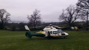 Great North Air Ambulance, Troutbeck Bridge.