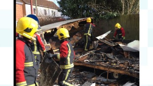 Firefighters were called to the incident in High Heath in Walsall.