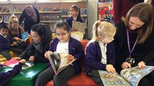 Children from Bishops Creighton Academy enjoy a trip to Peterborough Central Library