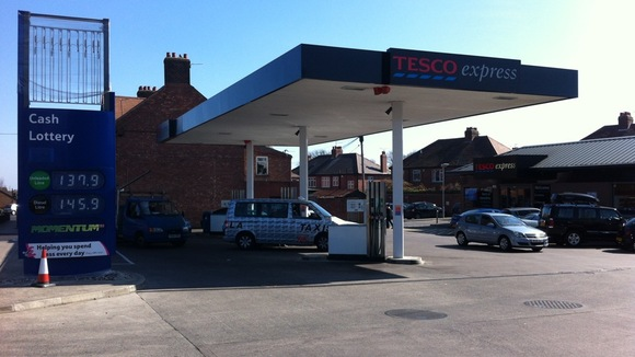 Petrol station In Gosforth, Newcastle