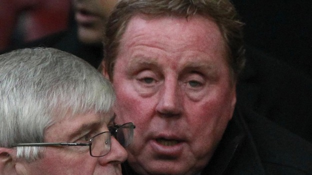 New Queens Park Rangers manager Harry Redknapp in the stands during the Barclays Premier League match at Old Trafford, Manchester.