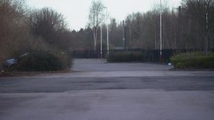 Empty train station car park