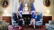 Prime Minister Theresa May (left) meets with Nicola Sturgeon at Bute House in Edinburgh in July 2016.