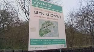 An advert for development at Glyn Rhonwy