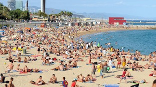 Temperatures on Tuesday might match those in Barcelona