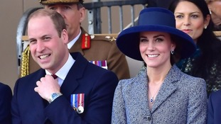 The Duke and Duchess of Cambridge attended the memorial event.