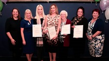Anna Turley, MP, Sue Jeffrey, Vera Ridley, Mia Flood, Mo Mowlam, Linda Dickinson, Glynis Rodgerson, Kat Kempen and Mayoress Olwyn Peters.