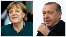 German Chancellor Angela Merkel and Turkish President Recep Tayyip Erdogan.