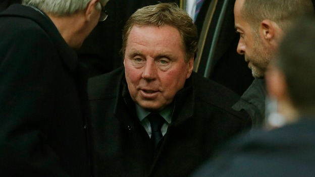 Queens Park Rangers' new manager Redknapp in the stand before QPR's match against Manchester United at Old Trafford in Manchester.