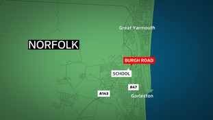 A man exposed himself outside the junior school at Burgh Road in Gorleston.