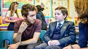 Popstar Nathan Sykes tells students: 'Don't limit yourself'