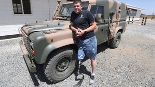 Amputee soldier vows not to let injury end army career and joins troops training in Kenya