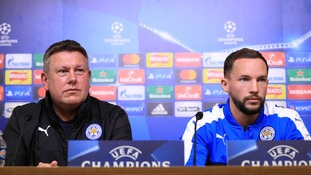 Danny Drinkwater and Craig Shakespeare of Leicester City