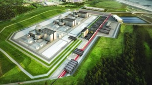 An artist impression of the planned Moorside power plant.