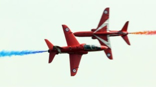 Close up Red Arrows