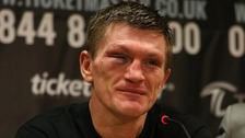 Ricky Hatton announces his retirement after being defeated in Manchester on Saturday night.