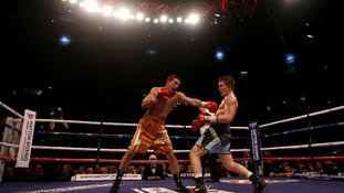 The boxers duel in Manchester.