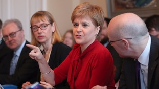 Nicola Sturgeon suggested Theresa May's lack of mandate will limit her demands for the terms or timing of a second referendum.