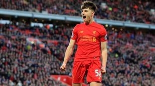 Liverpool forward Ben Woodburn