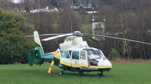 Great North Air Ambulance landed on a school playing field