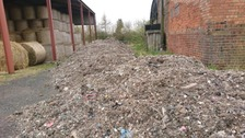 Photos of fly-tipping on farm in Shropshire