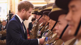 Prince Charles and Harry honour Gurkhas at Buckingham Palace for Afghanistan efforts