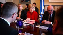 First Minister Nicola Sturgeon during a Scottish Government cabinet meeting in Bute House, Edinburgh.