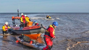Kayaker rescued in North Sea emergency