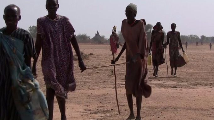 Many people are forced to walk for days to find food