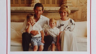 Prince Charles and Diana pictured with Prince William and Prince Harry.