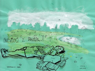 Day 128, Picnic and a snooze in Greenwich Park
