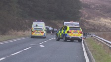 Scene of the crash on the A6 near Shap