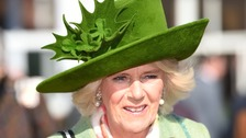 The Duchess of Cornwall is among the famous guests at Cheltenham Festival as the event celebrates Ladies Day.