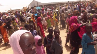 Nigerian refugees in Cameroon.
