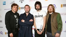 Ian Matthews, Tom Meighan, Serge Pizzorno and Chris Edwards of Kasabian.
