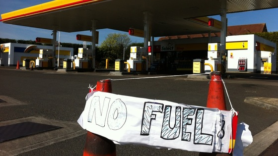 No fuel here in Kenton