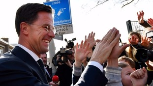 Dutch election: PM Mark Rutte hails rejection of 'wrong sort of populism' in victory over Geert Wilders