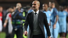 Pep Guardiola, beaten Manchester City manager