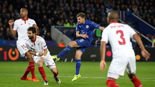 Marc Albrighton for Leicester City vs Sevilla