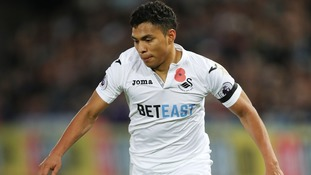 Swansea winger Jefferson Montero