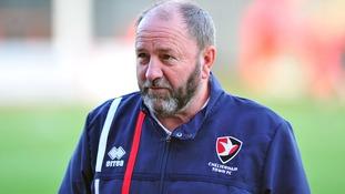 Cheltenham Town manager Gary Johnson