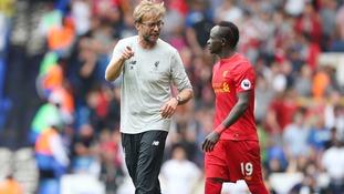 Liverpool's Jurgen Klopp and Sadio Mane