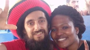 Khabi Abrey with her husband Stuart who was in court.