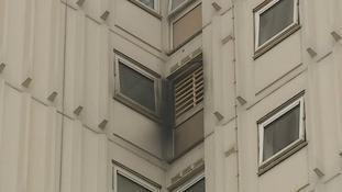 Firefighters evacuated the ninth floor and found Mrs Abrey, 30, unconscious in the hallway.