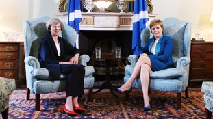 Nicola Sturgeon responded to Theresa May's comments with four tweets demanding a move towards a referendum timescale.