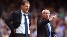 Slaven Bilic and Claudio Ranieri