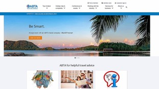 A shot of ABTA's website.